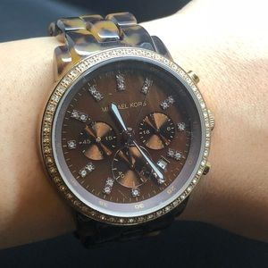 Michael Kors MK 5366 tortoise glitz watch